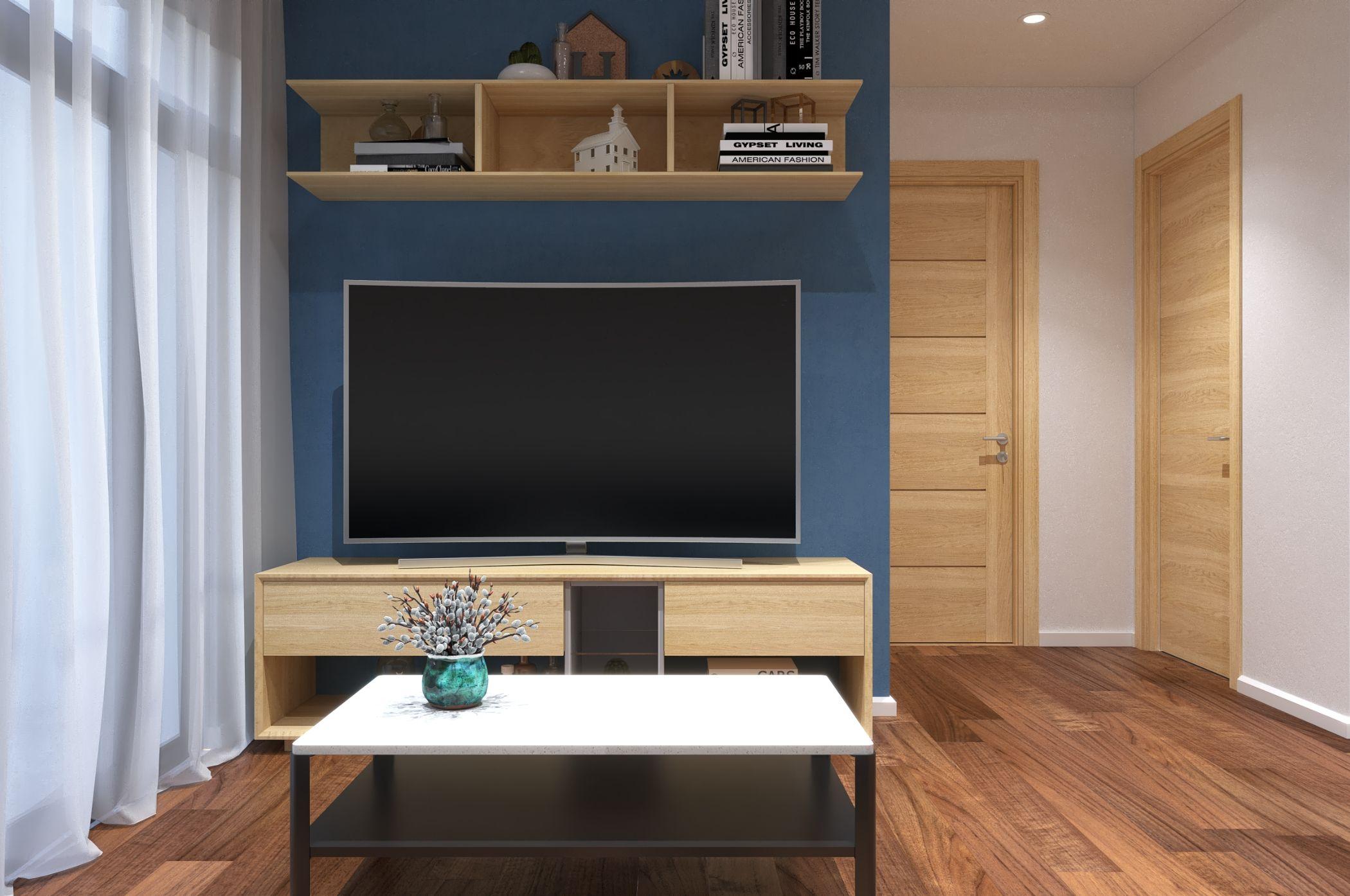 Thiết kế nội thất căn hộ Palm Heights 2 Phòng ngủ theo phong cách hiện đại