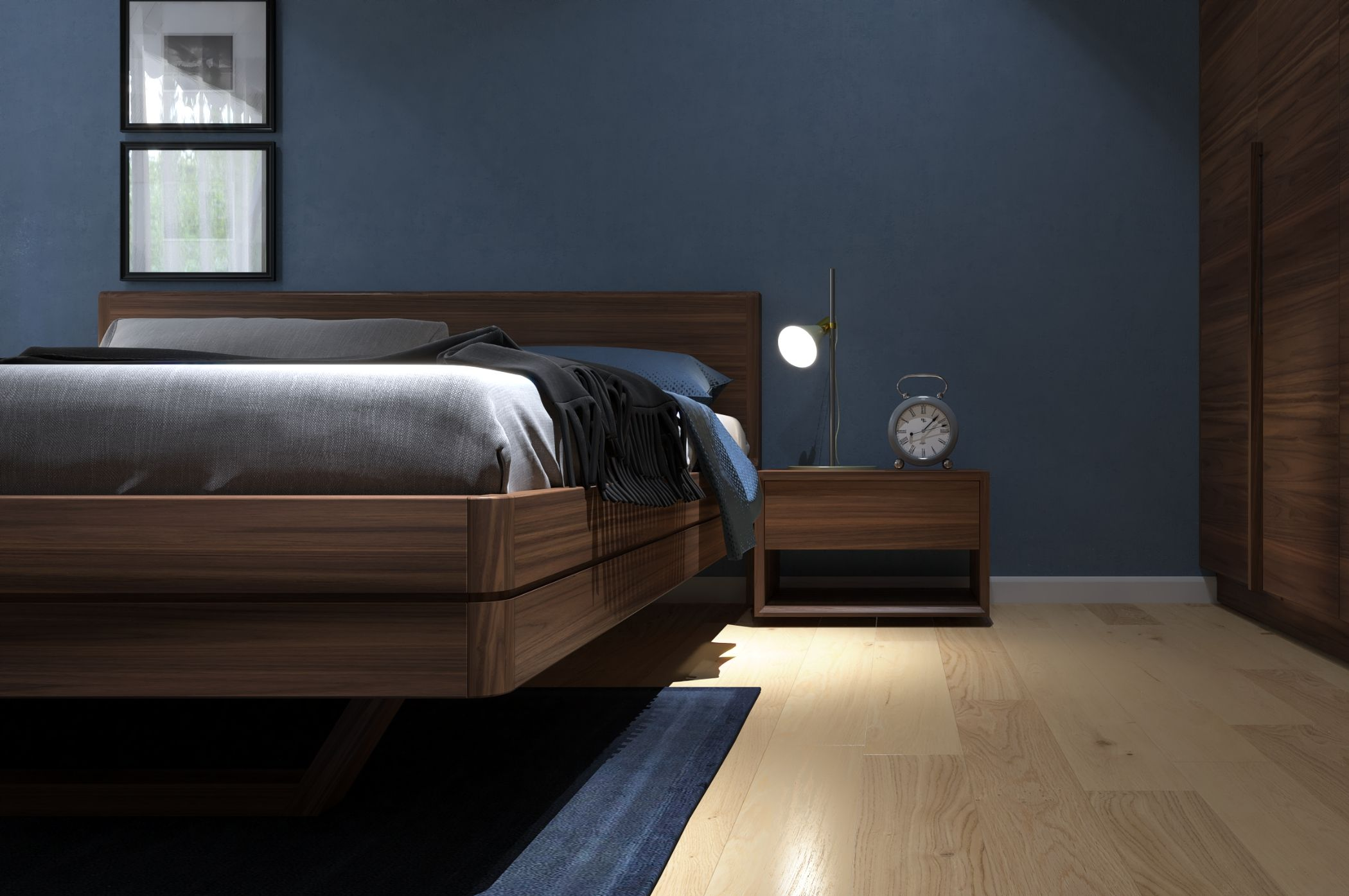 Thiết kế nội thất căn hộ Palm Heights 3 Phòng ngủ theo phong cách hiện đại