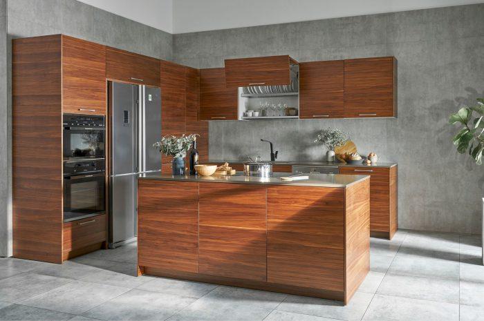 Tủ bếp hiện đại gỗ tự nhiên Trường Thắng