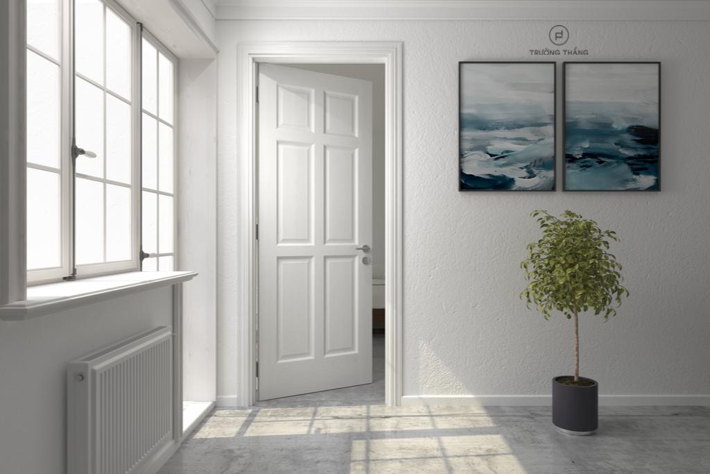 Một trong những mẫu cửa gỗ 1 cánh đẹp 2019 Vienna thuộc Bộ sưu tập Classic của Trường Thắng