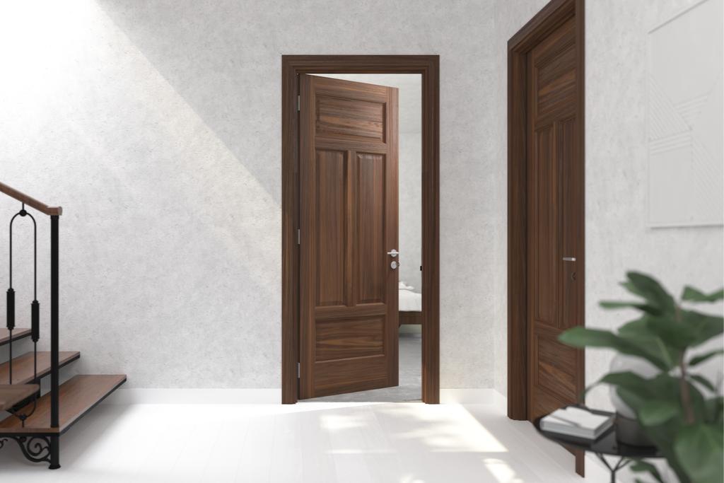 Chiêm ngưỡng cửa gỗ phòng ngủ đẹp hiện đại phong cách tân cổ điển