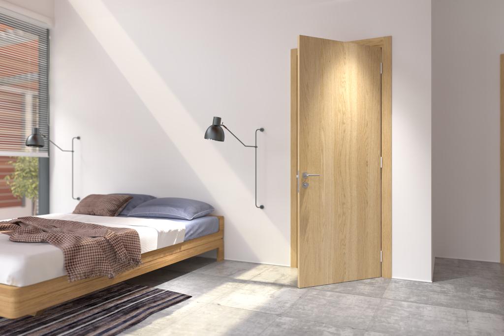 Trendy V - Mẫu cửa gỗ 1 cánh phòng ngủ đang được ưa chuộng hiện nay